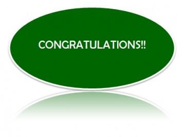 Congratulations to Sarah and Amy!