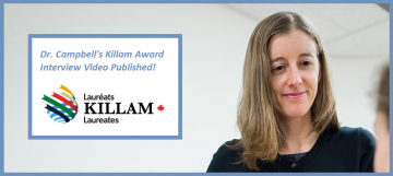 Dr. Campbell's Killam Award Interview Video!