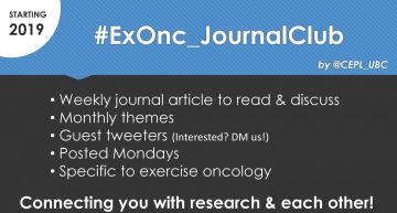 Exercise Oncology Journal Club – on Twitter!
