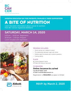 BC Cancer Nutrition Education Day